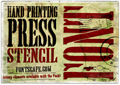 Thumbnail for Hand Printing Press Stencil_dem